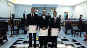 Elevação dos IIr.'. Anderson, Fabio e Cesar